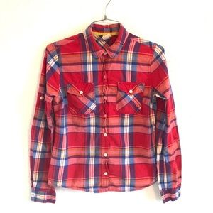 Mossimo Supply Co casual plaid button down small